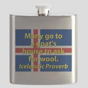 Many Go To A Goats House Flask