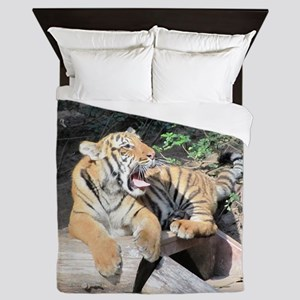 AWESOME TIGER Queen Duvet