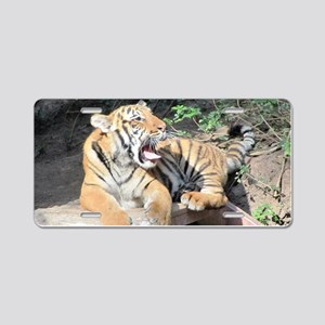 AWESOME TIGER Aluminum License Plate