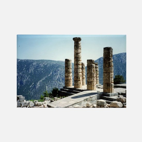 Oracle at Delphi Greece Souvenir Rectangle Magnet
