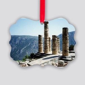 Oracle at Delphi Greece Souvenir Picture Ornament