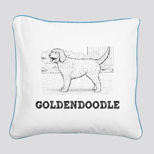 Goldendoodle Square Canvas Pillow