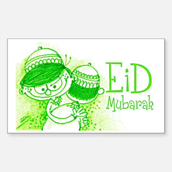 Cute Eid Sticker (Rectangle)