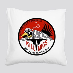 red_flag_60th_mig_killers5 Square Canvas Pillo