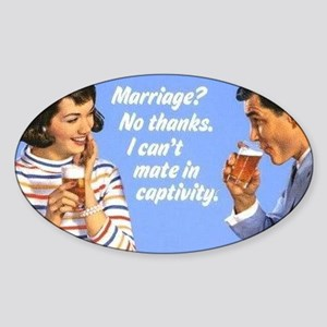 Marriage? Sticker (Oval)