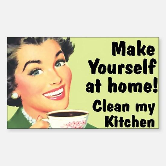 Clean My Kitchen Sticker (Rectangle)
