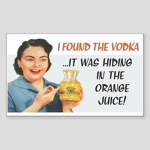 Found the Vodka Sticker (Rectangle)