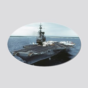Uss Midway Ship Cv-41 20x12 Oval Wall Decal