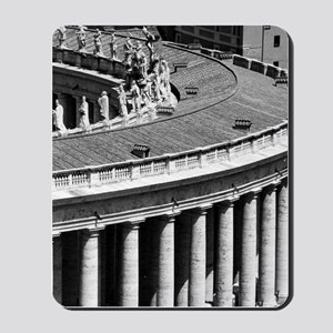 Rome Italy Vatican Black and White Photo Mousepad