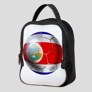 Costa Rica Soccer Ball Neoprene Lunch Bag