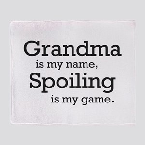 Grandma is my name Throw Blanket