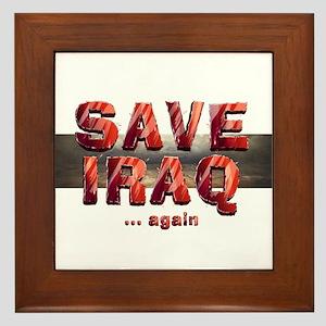 Save Iraq Framed Tile