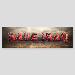 Save Iraq Sticker (Bumper)