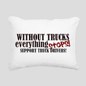 Trucker Support Rectangular Canvas Pillow