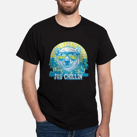 Bear Just Chillin Dark T-Shirt