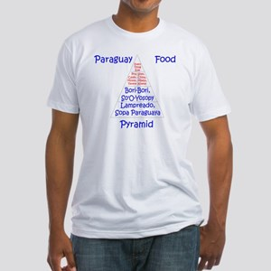 Paraguay Food Pyramid Fitted T-Shirt