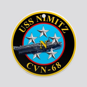 Uss Nimitz Cvn-68 Ornament (round)