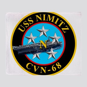 USS Nimitz CVN-68 Throw Blanket