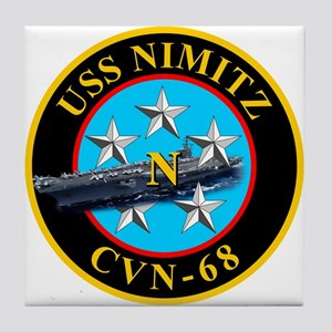 USS Nimitz CVN-68 Tile Coaster