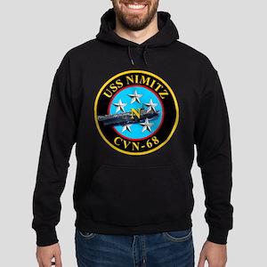 Personalized Uss Nimitz Cvn-68 Hoodie (dark)