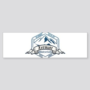 Zermatt Ski Resort Switzerland Bumper Sticker