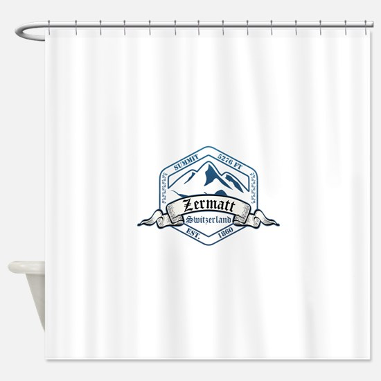 Zermatt Ski Resort Switzerland Shower Curtain