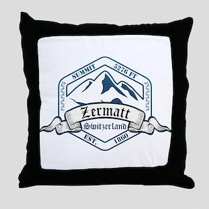 Zermatt Ski Resort Switzerland Throw Pillow