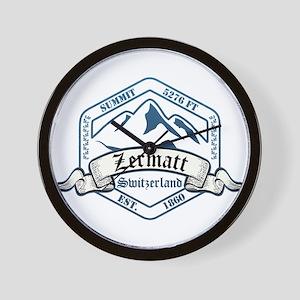 Zermatt Ski Resort Switzerland Wall Clock