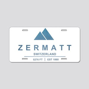 Zermatt Ski Resort Switzerland Aluminum License Pl