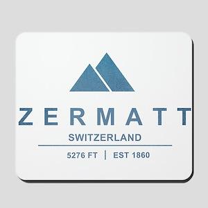 Zermatt Ski Resort Switzerland Mousepad