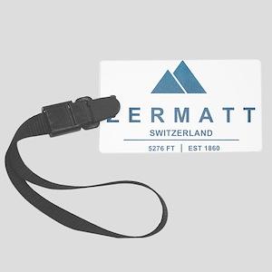 Zermatt Ski Resort Switzerland Luggage Tag