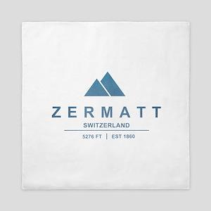 Zermatt Ski Resort Switzerland Queen Duvet