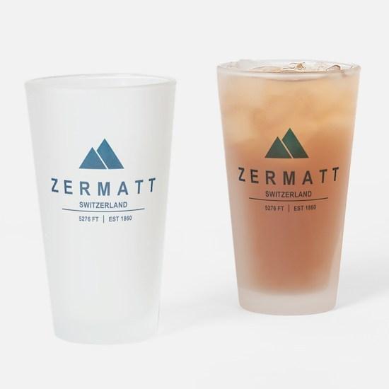 Zermatt Ski Resort Switzerland Drinking Glass