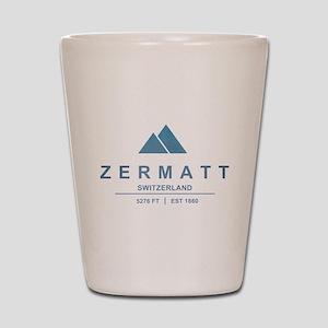 Zermatt Ski Resort Switzerland Shot Glass