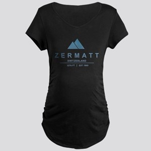 Zermatt Ski Resort Switzerland Maternity T-Shirt
