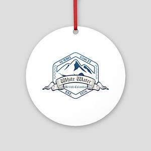 White Water Ski Resort British Columbia Ornament (