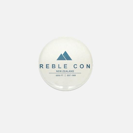 Treble Cone Ski Resort New Zealand Mini Button