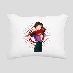 Boxing Rectangular Canvas Pillow