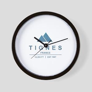 Tignes Ski Resort France Wall Clock