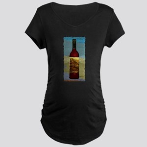 Wine Bottle Maternity Dark T-Shirt