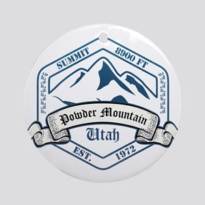 Powder Mountain Ski Resort Utah Ornament (Round)