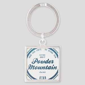 Powder Mountain Ski Resort Utah Keychains