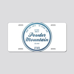 Powder Mountain Ski Resort Utah Aluminum License P