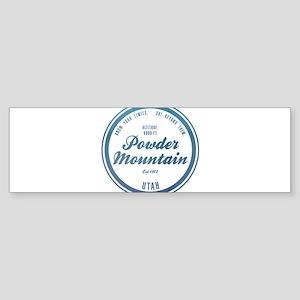 Powder Mountain Ski Resort Utah Bumper Sticker