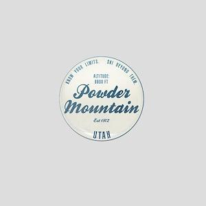 Powder Mountain Ski Resort Utah Mini Button