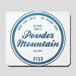 Powder Mountain Ski Resort Utah Mousepad
