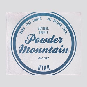 Powder Mountain Ski Resort Utah Throw Blanket