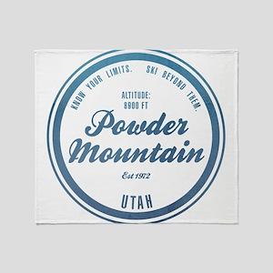 Powder Mountain Ski Resort Utah Throw Blanket