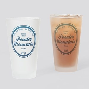 Powder Mountain Ski Resort Utah Drinking Glass
