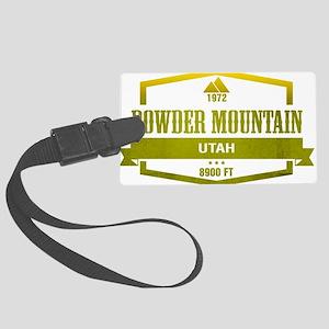 Powder Mountain Ski Resort Utah Luggage Tag
